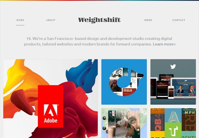 Design agency: Weightshift